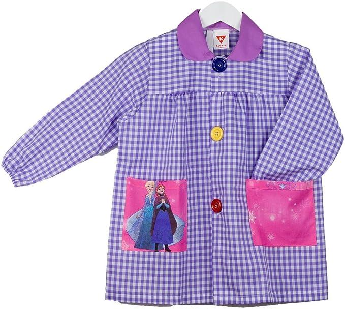 KLOTTZ - Babi bolsillos tela FROZEN para guardería y colegio Niñas