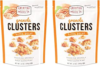 Creative Snacks Honey Pecan Granola Clusters, Great for Snacking or Cereal, 2 pk, 12 Ounce Resealable Bags