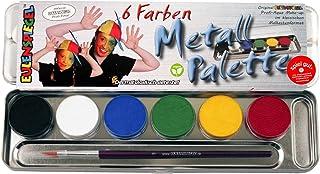 Eulenspiegel 206003 – profesjonalna farba do makijażu, 6 kolorów, metalowa paleta