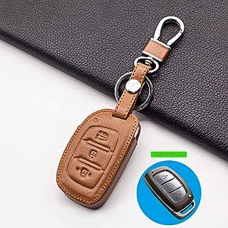 for Hyundai i10 i20 i30 HB20 IX25 IX35 IX45, Carrying Stylish Leather car key case cover 3 button smart dust collector