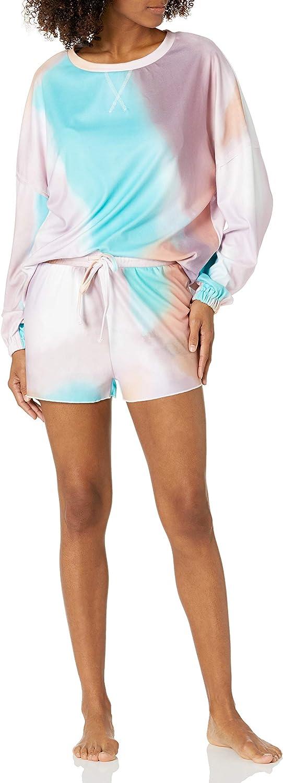 Goodthreads Women Long Sleeve Pajama Sets Ruffle Sleepwear Front Drawstring Nightwear Loungewear
