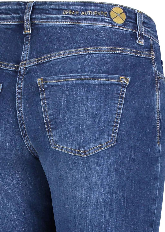 MAC Jean pour femme Coupe droite Bleu Taille M Mid Blue Authentic Wash