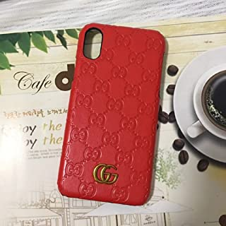 Miguel VICENTEE iPhone XR -US Fast Deliver Guarantee FBA- Luxury PU Leather Style Case Cover for Apple iPhoneXR Only (Monogram Red)