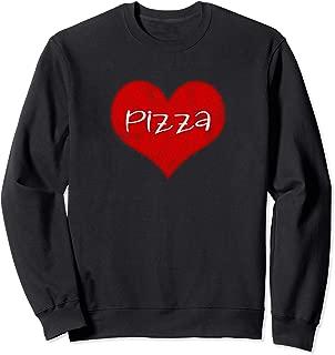 I Love Pizza Red Heart Foodie VintageValentine's DayGift Sweatshirt