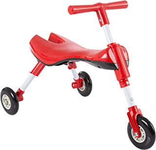 Lil' Rider Glide Tricycle- Trike Ride On Toy with No Assembly, Foldable Design, Indoor Outdoor Wheels for Toddlers Learning to Walk, Balance