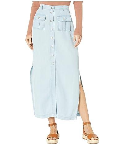BB Dakota Let It Indigo Lyocell Midi Skirt (Chambray) Women