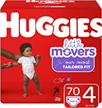 Huggies Little Movers Diapers, Size 4 (22-37 lb.), 70 Ct, Giga Jr Pack (Packaging May Vary)