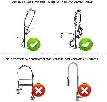 IMLEZON Pre Rinse Sprayer Commercial Sink Faucet Spray Valve Chrome Finished (Black)