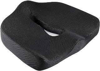 IKSTAR クッション 低反発座布団 オフィス 椅子 車用 シートクッション RoHS安全基準クリア 座り心地 運転らくらく カバー洗える