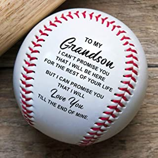 K KENON Engraved Baseball Gift - to My Son Enioy The Ride and Never Forget Your Way Back Home - Unique Gifts for Son from Mom Dad