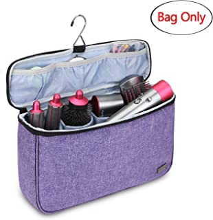 Teamoy Travel Storage Bag Compatible with Dyson Airwrap Styler, Portable Travel Organizer for Airwrap Styler and Attachments Top Open Design Purple