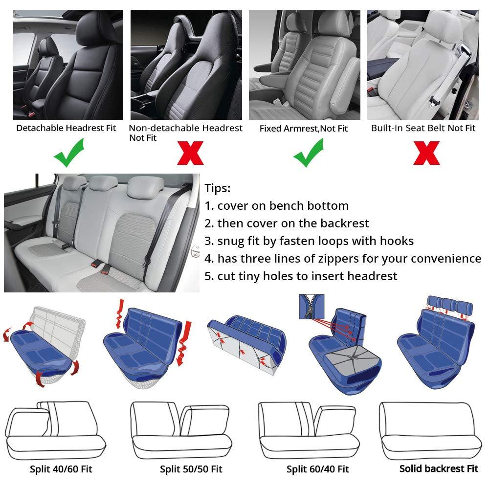 Amazon Com Autoyouth Car Seat Covers Universal Fit Full Set Car Seat Protectors Tire Tracks Car Seat Accessories 9pcs Black Red Orange Automotive