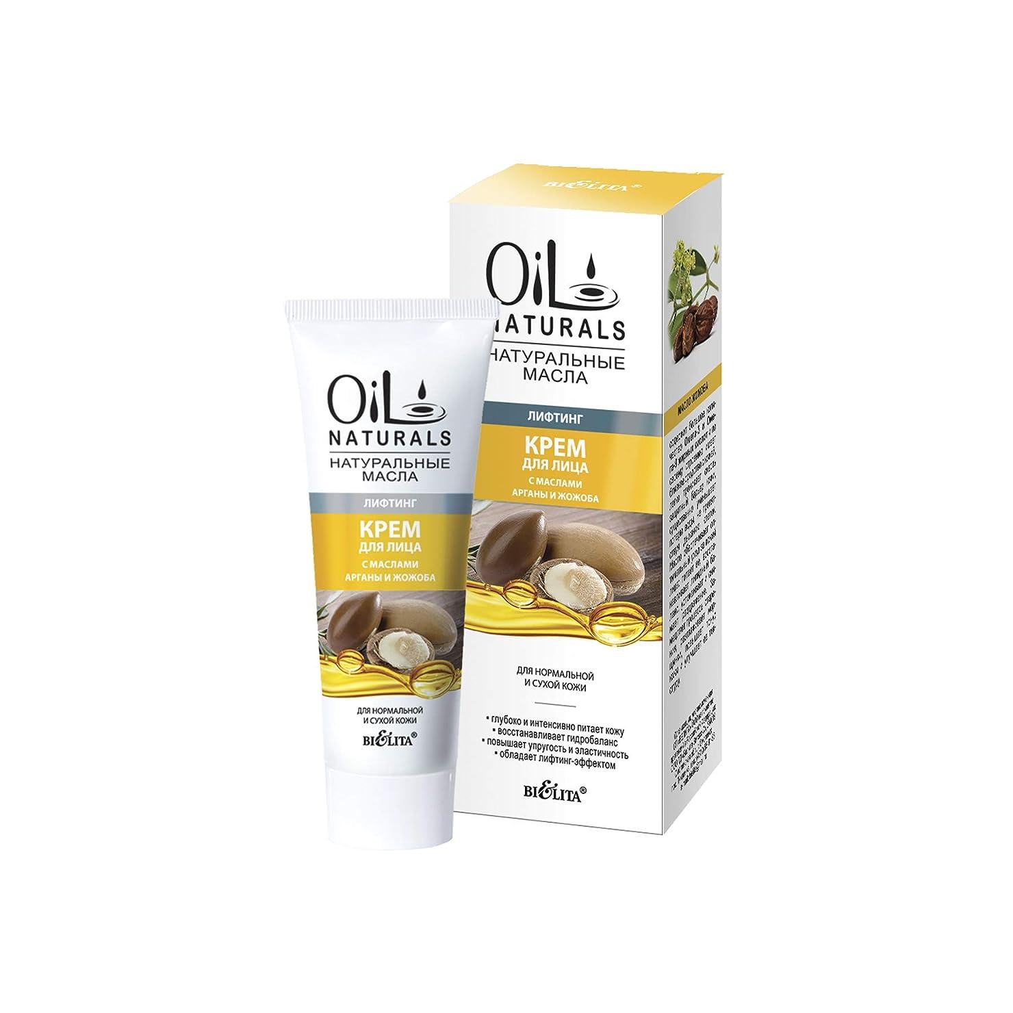 混雑表現ケイ素Bielita & Vitex | Argan Oil, Jojoba Oil Moisturising Cream for the Face 50ml | Intensive Moisturizer With Natural Cosmetic Oils for Normal and Dry Skin