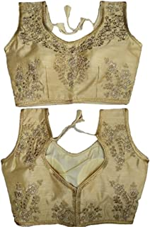Ethnic Shop New Fancy Praty Wear Indian Designer Blouse with Cups A836 Golden