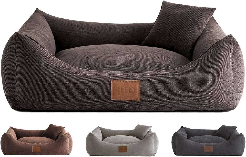 Leo4dog Sofa SUN 6 sizes, 4 colors. Dog bed, dog cushion, dog sofa, dog basket. (XXXL140X105, Brown)