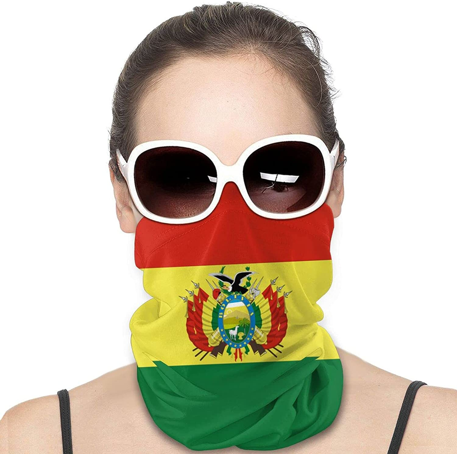 Bolivia Flag Round Neck Gaiter Bandnas Face Cover Uv Protection Prevent bask in Ice Scarf Headbands Perfect for Motorcycle Cycling Running Festival Raves Outdoors