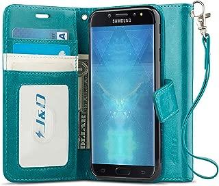 J&D Case Compatible for Galaxy J7 2018/J7 V 2nd Gen/J7 Refine/J7 Star Case, [Wallet Stand] [Slim Fit] Heavy Duty Protective Shockproof Flip Cover Wallet Case for Samsung Galaxy J7 2018 Wallet Case