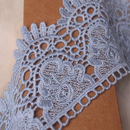 1 Pair Beige Water Soluble Garment Neckline Lace Skirt Neckline Decoration(Beige//Cotton Thread)