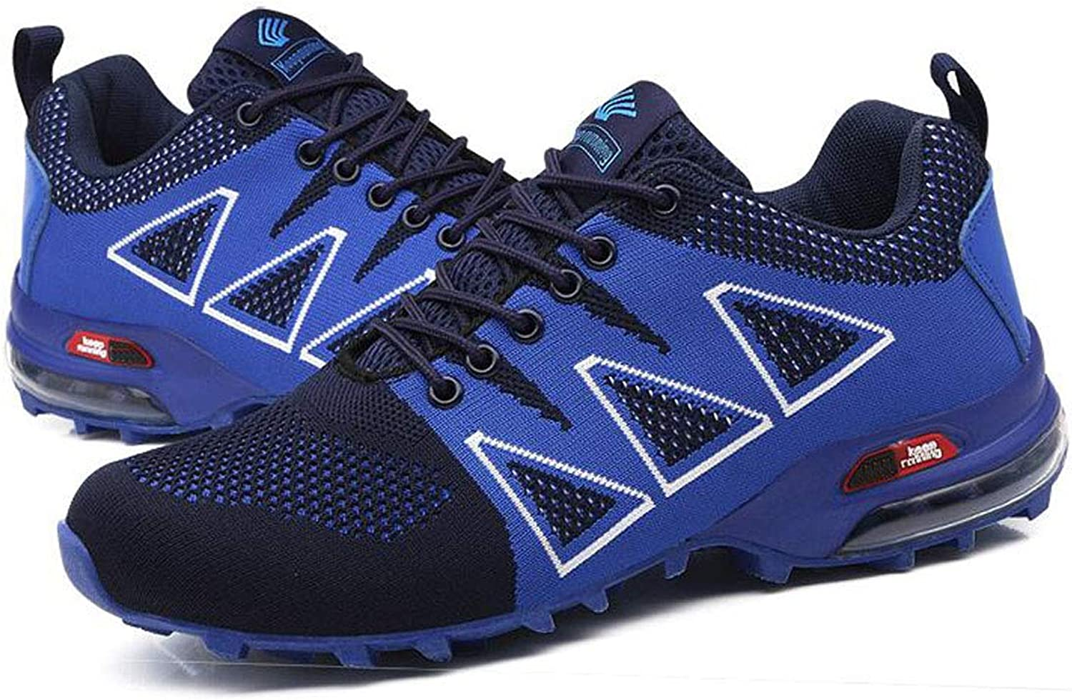 FGSJEJ Summer Hiking shoes Men's Trail Running shoes Non-slip Breathable Sneakers (color   bluee, Size   39)