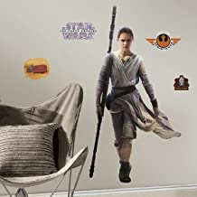 """RoomMates RMK3149GM Star Wars EP VII Rey P&S Giant Wall Decal, 28.6"""" Wide x 55"""" High"""