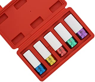 ABN 1/2in Impact Drive Lug Nut Socket 5-Piece Set – Non-Marring, Color-Coded,..