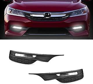 For Honda Accord 2016-2017 Fog Light Lamps+Bezels+Switch HI-POWER LED (US Shipment)