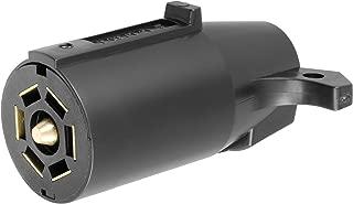 CURT 58140 Trailer-Side RV Blade 7-Way Trailer Wiring Harness Connector, 7-Pin Trailer Wiring