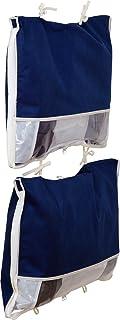 アストロ 衣装ケース 2個 ネイビー 不織布 ダウンジャケット収納 コンパクト 177-15