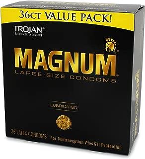 Trojan MAGNUM Lubricated Condoms - Large - (36 Count) - Value Pack
