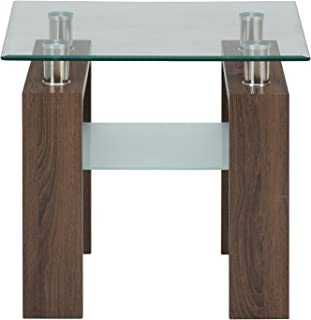 Jofran: , Compass, Square Glass End Table, 24