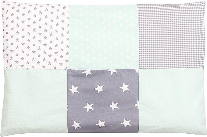 41 opinioni per Federa per guanciale per neonato ULLENBOOM ® 40x60, verde menta, grigio (con