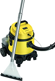 Bomann BSS 6000 Lava Aspiradora con Limpiador de Tapicería para Coche, 1200 W, 20 litros, Amarillo [Clase de eficiencia energética, Negro