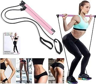 Artoflifer - Banda de resistencia para yoga y pilates, barra portátil para tonificar los músculos, gimnasio en casa, pilat...