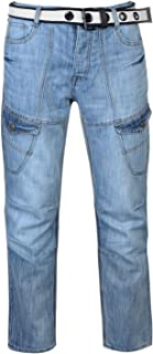 f66beabba5 No Fear Mens Belted Cargo Straight Jeans