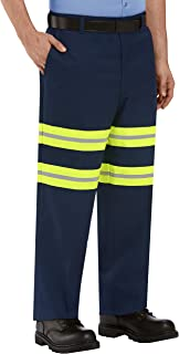 Red Kap Stain Resistant, Enhanced Visibility Dura-Kap Flat Front Men's Industrial Work Pants
