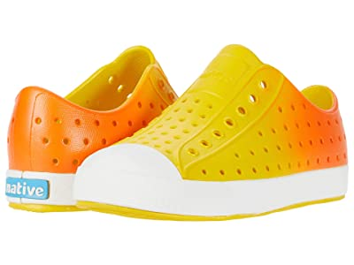 Native Kids Shoes Jefferson Ombre (Little Kid) (Crayon Yellow/Shell White/Fire Metallic Ombre) Kid
