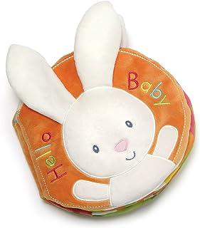 "Baby GUND Flora Bunny Soft Plush Activity Book 8"", Multicolor"