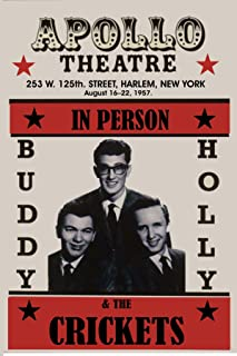 Gatsbe Exchange Buddy Holly Dead Musician Concert Poster Rock and Roll Legends Live Forever 12 X 18
