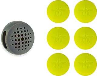 Not In My Backyard Silicone Wearable Clip All Natural Essential Oils Mosquito & Insect Repellent with 6 Refills/Gray NB0125