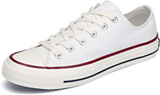 Women's Classic Low Top Canvas Shoes Casual Slip On Sneakers Mens Fashion Tennis Walking Flats