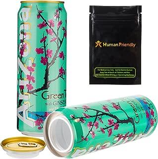 Arizona Green Tea Diversion Safe Stash Can w HumanFriendly Smell-Proof Bag