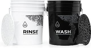 CLEANTECH CO 2X Seau de Lavage Voiture + 2X Séparateur | Wash&Rinse | Shampoing pour Voiture