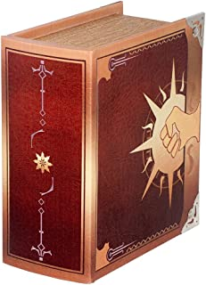 Grimoire Pro Tour, Legion | Wooden Spellbook Style Fabric Lined Portable Deck Box for MTG, Yugioh, and Other TCG | 350+ Card Capacity