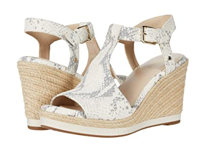 Cole Haan Cloudfeel Espadrille Wedge (90 mm) (Natural Chalk Python Print Leather Natural Jute Wrap) Women
