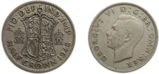 Stampbank Coins for Collectors - Circulated British 1948 Half Crown Coin / Great Britain