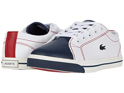 Lacoste Kids Riberac 120 1 CUC (Little Kid) (White/Navy/Red) Kid
