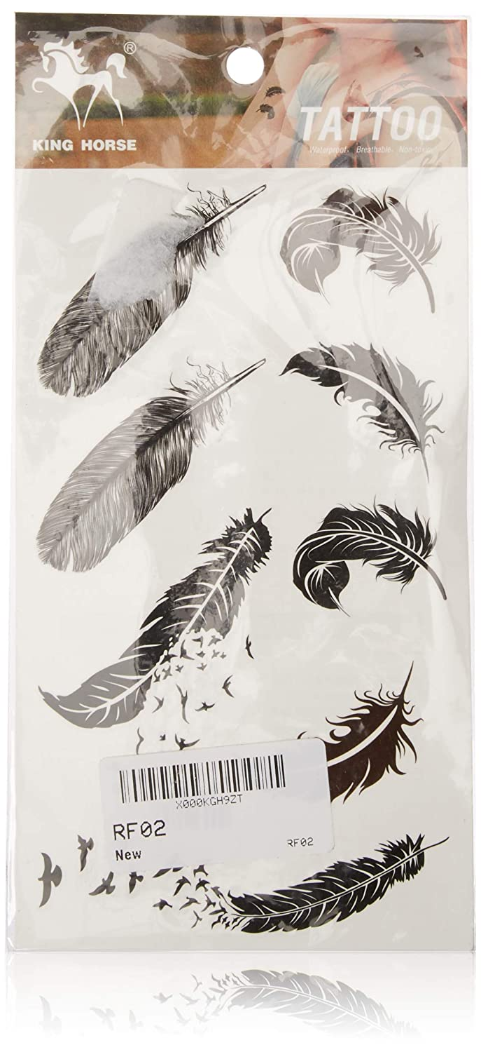 birds and Super intense SALE Excellent feathers stckers tattoo temporary