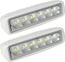 LEANINGTECH White Spreader LED Deck/Marine Lights (Set of 2) for Boat (Flood Light) 12V 18W