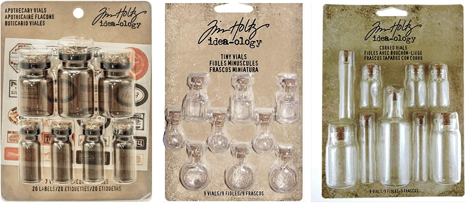 Idea-Ology Corked Glass Vials Tim Max Seattle Mall 80% OFF Tiny Apothecary