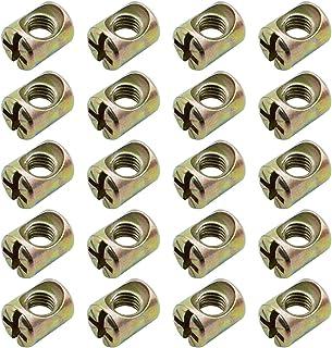 SPTwj 50 piezas de tuercas cilíndricas M6 utilizadas para ensamblar cunas y muebles Resistentes y duraderas pueden evita...